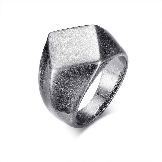 Mens Stainless Steel Vintage Ring