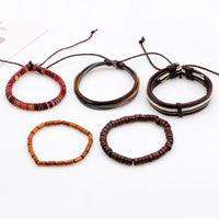 5 Piece Rope & Bead Bracelet Set