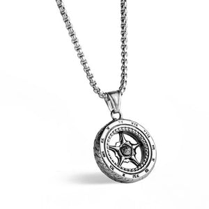 Stainless Steel Tyre Necklace