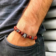 Red Bead Crown Bracelet