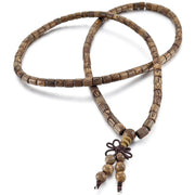 Wooden Buddha Bead Necklace