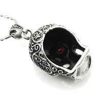 Stainless Steel Red Eye Skull Necklace UK