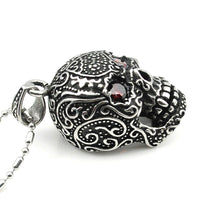 Best Stainless Steel Red Eye Skull Necklace