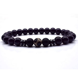 Black Beach Bead Bracelet