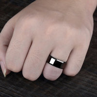 Stainless Steel Gloss Black Ring Online