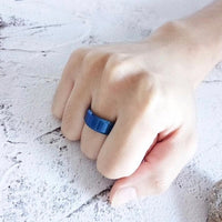 Stainless Steel Gloss Blue Ring Online