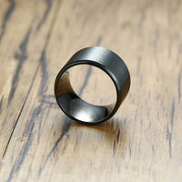 Extra Wide 15mm Black Ring