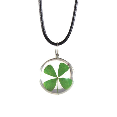 4 Leaf Clover Glass Pendant