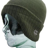 Olive Winged Thermal Beanie
