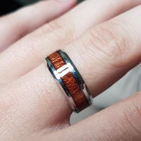 Wooden Stainless Steel Rings Online