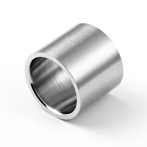 Extra Wide Matt Silver Ring