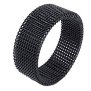 Black Steel Segment Ring