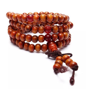 Multilayer Natural Buddha Bead Bracelet