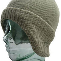 Beige Winged Thermal Beanie