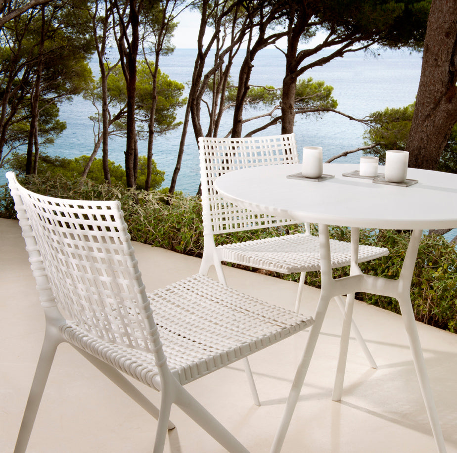 Outdoor furniture is surface rust if you detect some rust build up this can be easily cleaned off with a scouring pad and stainless steel cleaner