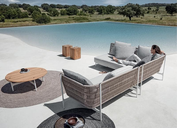 Grand Weave Sofa in Rope 40% Off Outdoor Furniture Gloster