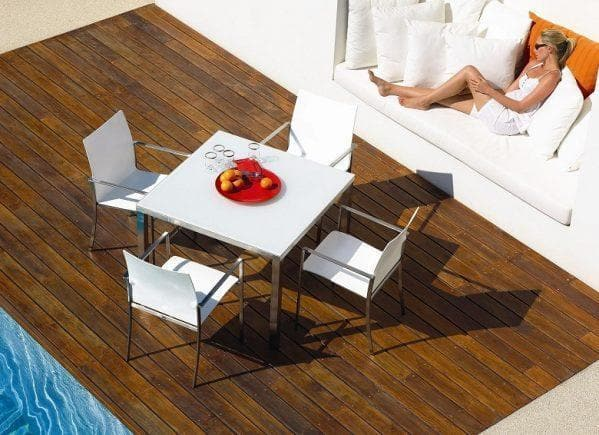 Kore Square Teak Table 50% Off Outdoor Furniture Gloster