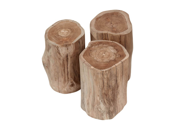 Teak Log Stool Outdoor Furniture Gloster
