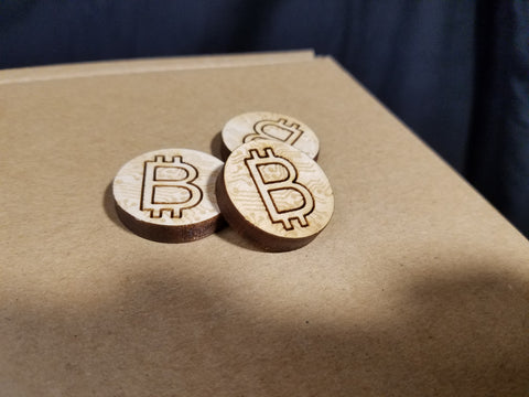 "BTC ""Wooden Nickel"" (30mm)"