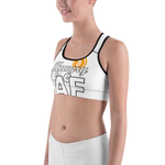 """Hungry AF (for Crypto)"" Sports bra"