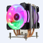 Silent CPU Dual-Fan Cooler for Intel X79 LGA2011 (Xeon E5-26XXv2)  4 heat pipes Cooling CPU Radiator 2 Fan