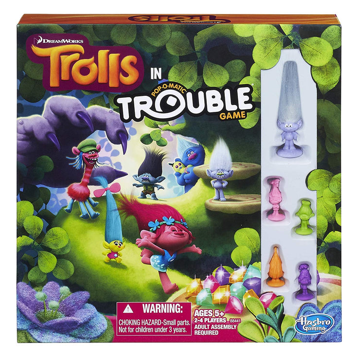 box pack of DreamWorks Trolls in Trouble Game