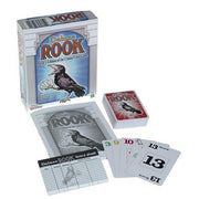 view of game components for Deluxe Rook Card Game