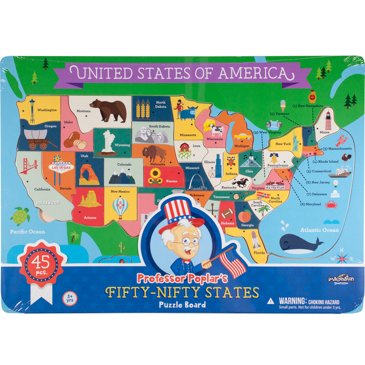 Fifty Nifty USA States Puzzle box packaging
