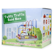box packaging for the wooden wonders twisty traffic bead maze