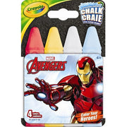 crayola four piece avengers washable sidewalk chalk box packaging