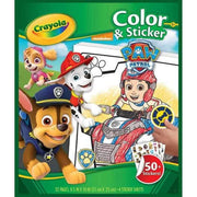 front cover of paw patrol color and sticker book