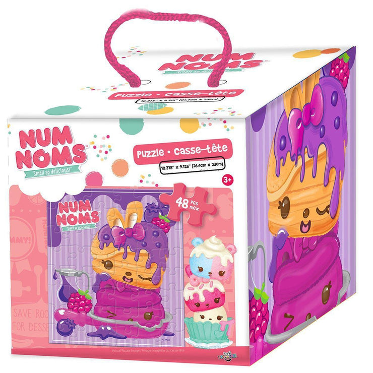 front view of the Num Noms - 48 Piece Puzzle in Cube