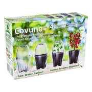 box packaging of the covuno greenhouse box kit for cherry tomatoes
