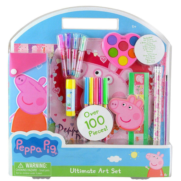 front view of Peppa Pig Ultimate Art Set for STEM kids