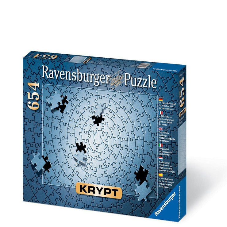 Krypt Silver 654 Piece Blank Puzzle Challenge box packaging