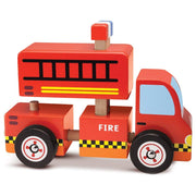 side view of Wooden Wonders Put-It-Together Fire Engine
