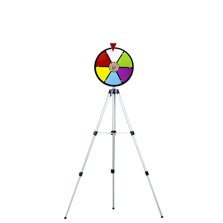 Color Dry Erase Prize Wheel with Floor Stand 12 inch