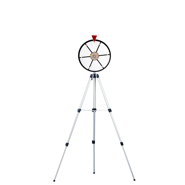 White Dry Erase Prize Wheel with Floor Stand - 12 inch