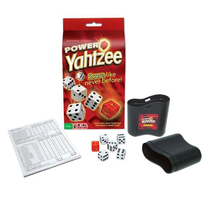 front view of Power Yahtzee game