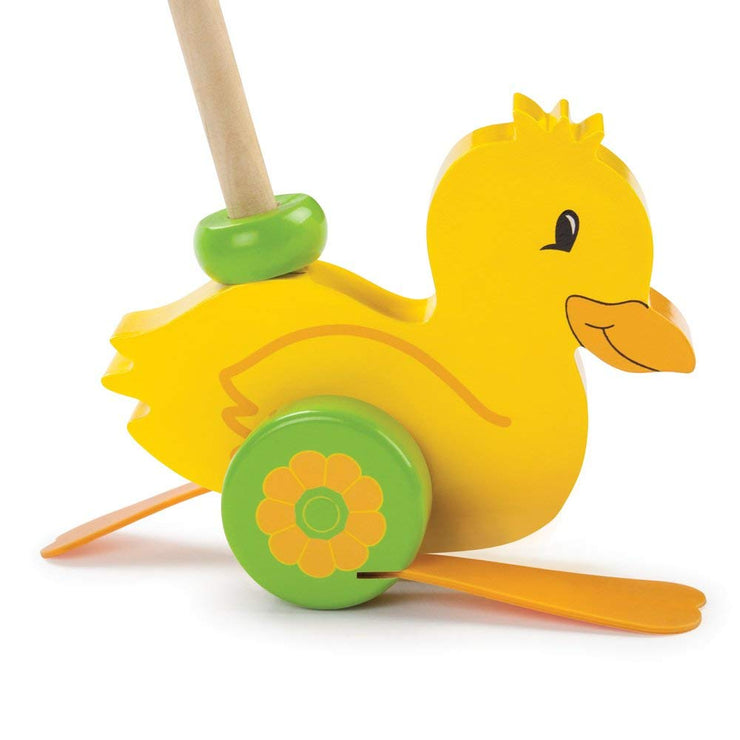 close up fo Push-n-Pull Waddling Duckling
