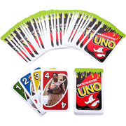 spplayed cards of UNO - Ghostbusters Edition