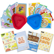 image displaying the four stem card games available with cards in a card holder