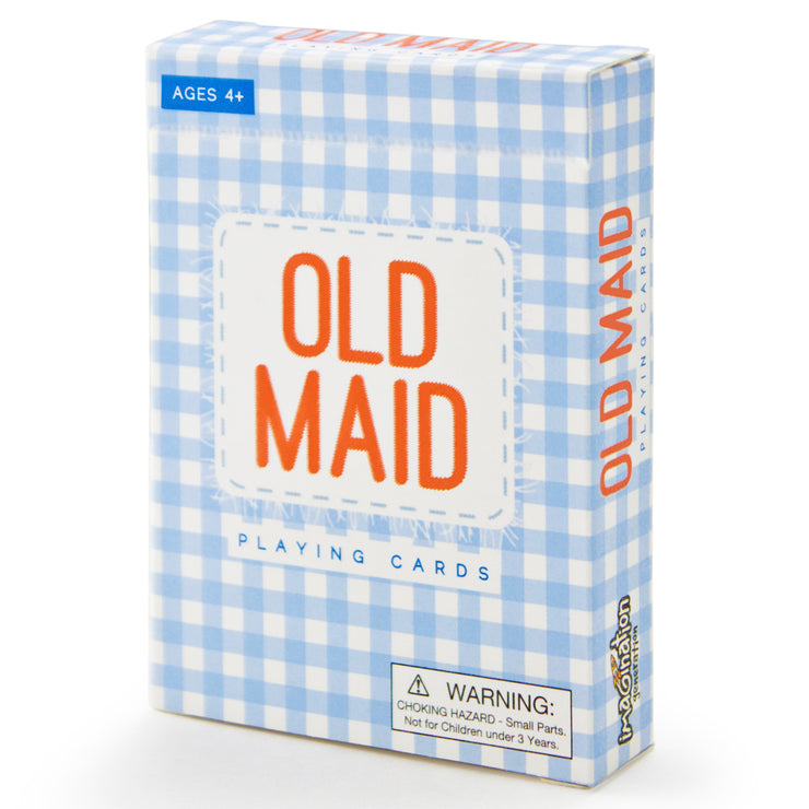 front view of the Old Maid Illustrated Card Game