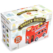 box packaging for read wooden tour bus motor skills toy