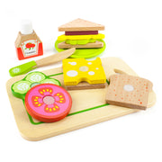 wood eats - super sandwich set on white backing