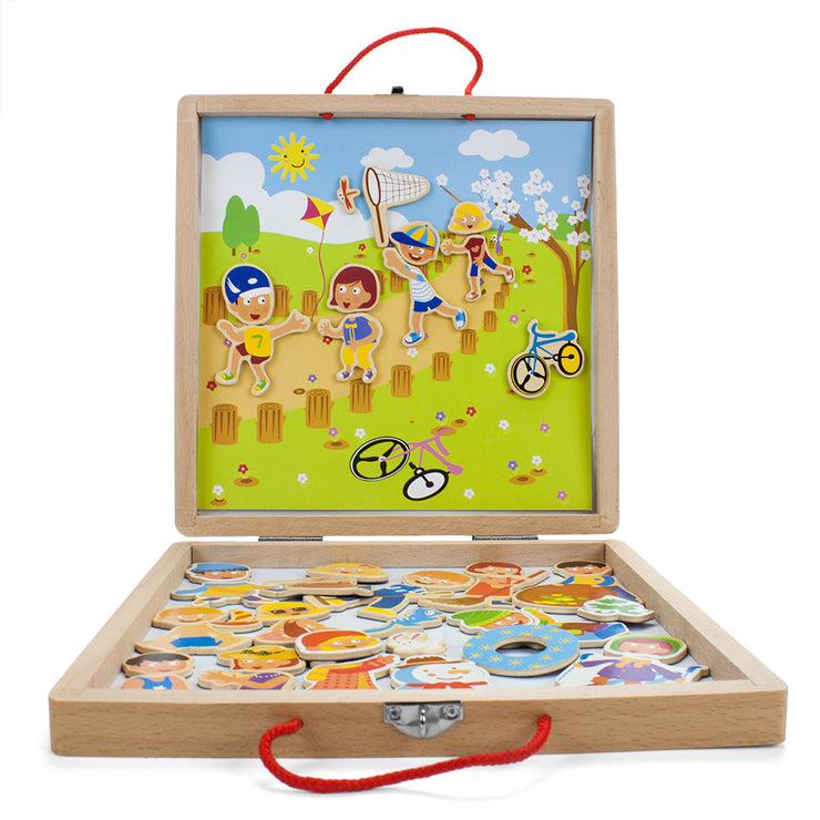 Four Seasons Magnetic Play Set on white backing