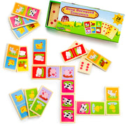 Busy Barnyard Dominoes - stem toys