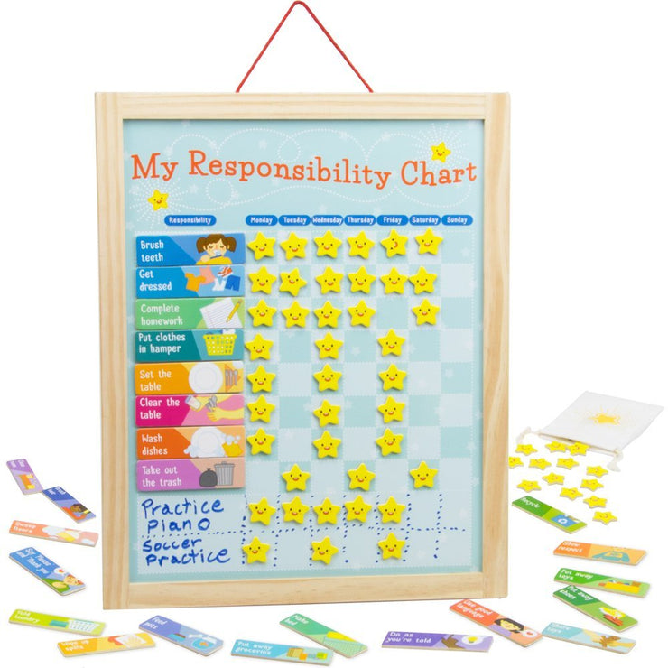 front view of My Responsibility Chart
