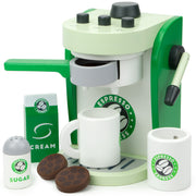 wood eats creative play espresso coffee maker ready to play with