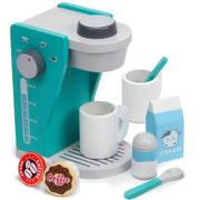 wood eats creative play rise and shine coffee maker set
